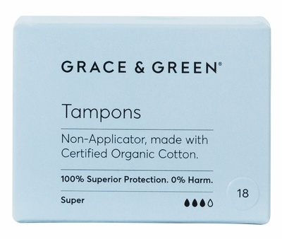Grace & Green Non-Applicator Tampons Super Plus