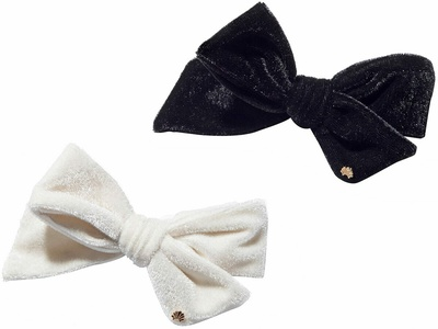 Lele Sadoughi Set Of Two Ribbon Bow Tie Barrettes