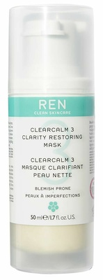 Ren Clean Skincare Clear Calm 3  Clarifying Restoring Mask
