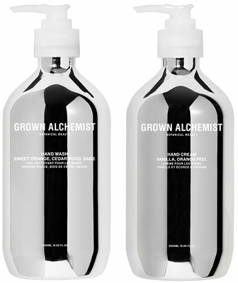 Grown Alchemist Silver Kit Hand Wash + Hand Cream 500 ml