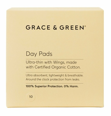 Grace & Green Day Pads Ultra-thin with Wings