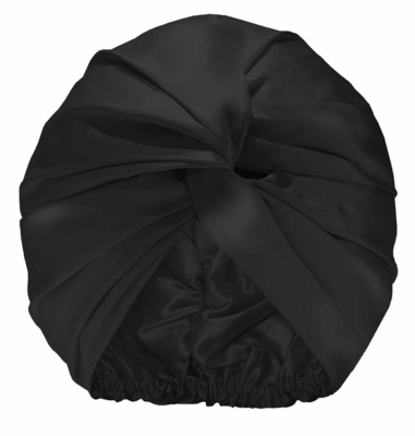 Slip Pure Silk Turban Black