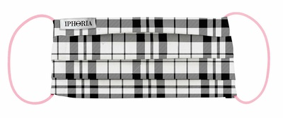 Iphoria Textile Face Mask - Check Pattern
