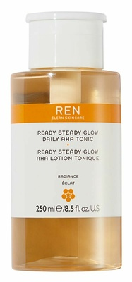 Ren Clean Skincare Radiance Ready Steady Glow Aha Daily Tonic