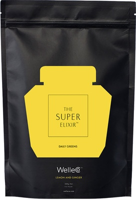 WelleCo Super Elixir Greens - Lemon and Ginger