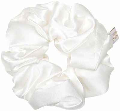 Holistic Silk Pure Mulberry Silk Scrunchie White