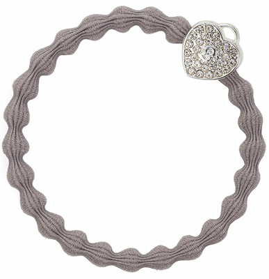By Eloise Silver Heart Lock Cloudy Grey